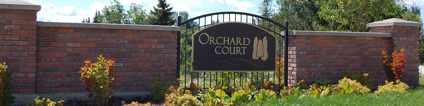 Orchard Court Entry Feature
